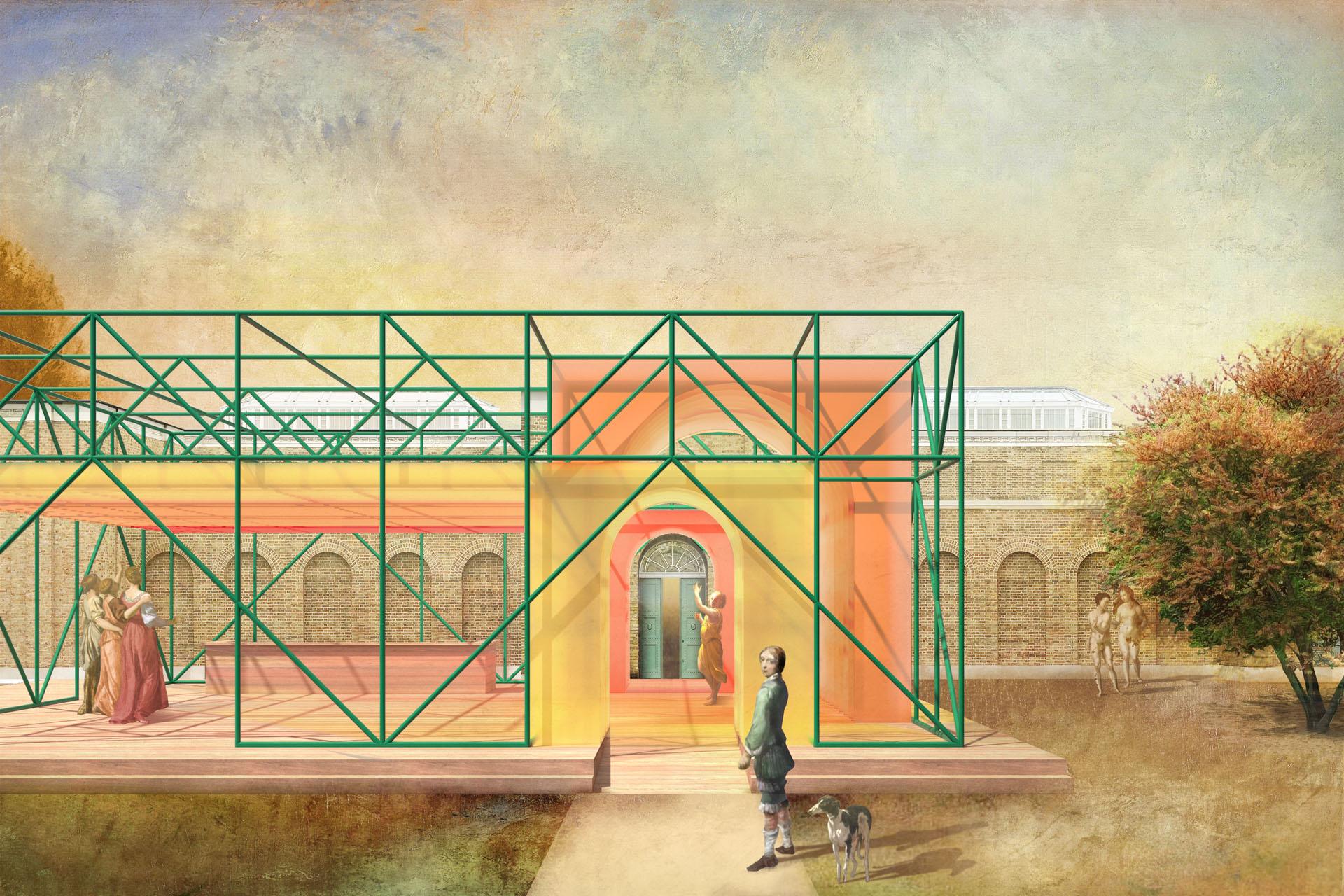 Dulwich Pavilion exterior approach