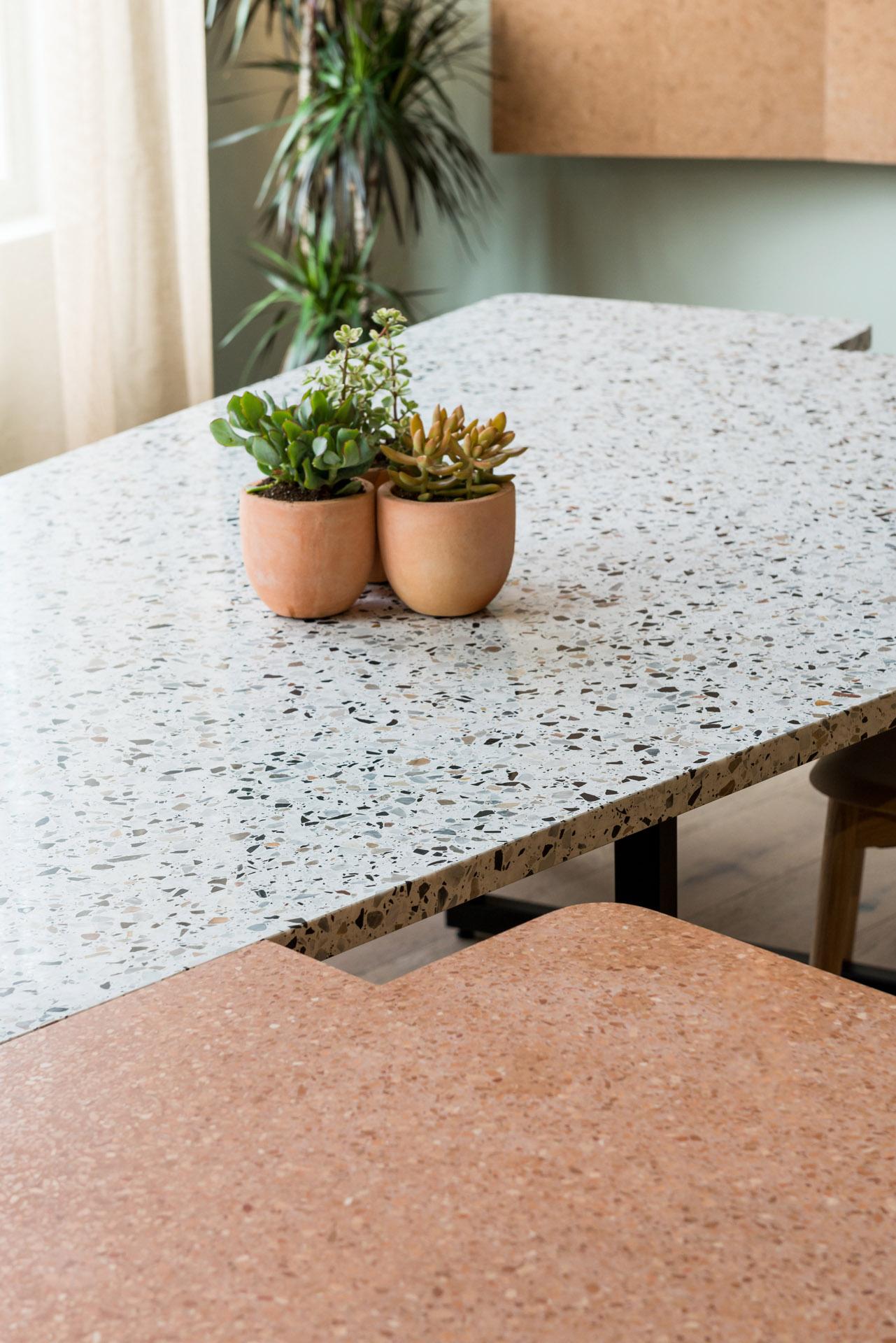 Queens Park terrazzo table top detail